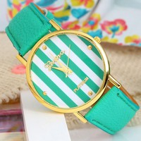 Striped Analog Watch