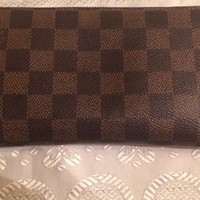 Louis Vuitton Zippy Wallet Ebene Damier AUTHENTIC With Papers Pre-owned