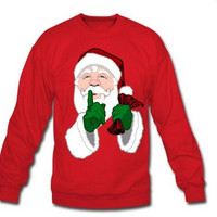 Christmas Santa Print Fleece Sweater B0014152