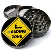 Loading Zone XL Metal 4 Chamber Herb Grinder With Fine Screen - Cheap Custom Grinders