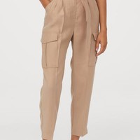 Paper-bag Pants - Beige - Ladies | H&M US