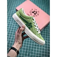 Golf Le Fleur X Converse Green Flower Fashion Shoes - Sale