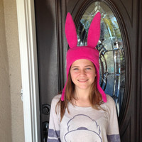 Bob's Burgers Louise Belcher Hat - Made with fleece inside and out  - SIZES: Small, Medium, Large