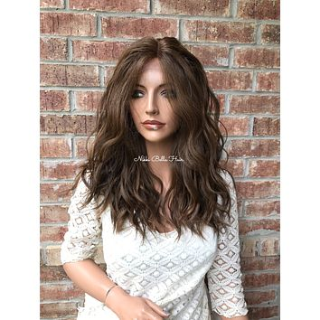 """Bella Balayage Ombré Human Hair Blend Multi Parting lace front wig 16"""" 41721"""