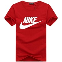 NIKE 2018 summer men's and women's round neck casual sports short-sleeved T-shirt F-A000-PPNZ Red