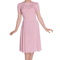 Hell Bunny 60's Vintage Inspired Jackie First Lady Fancy Pink Dress