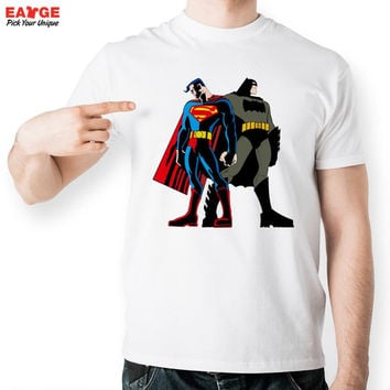 [EATGE] Batman VS Superman T Shirt Design Dawn Justice T-shirt Style Cool Fashion Funny  Men Women Print Casual Novelty Tee