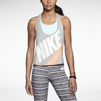 Nike Signal Graphic Women's Tank Top - Dark Grey Heather