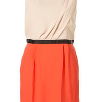 Multi Colour Block Tuck Shift Dress - New In This Week - New In - Topshop