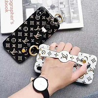 LV Louis Vuitton Fashion Print Wrist Band Couple Protective Cover Phone Case