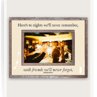Here's To Nights We'll Never Remember Copper & Glass Photo Frame