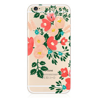 Luxury Transparent Floral Flowers Collage Painting Elaborate Silicon Phone Case Cover Shell For Apple iPhone 5 5S SE