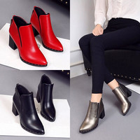 Martin Boots Women Casual Leather Boots
