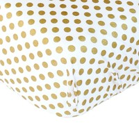 Metallic Gold Dots - Crib Sheet