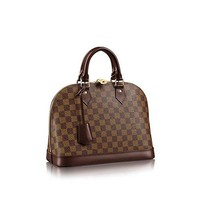 Alma Style Damier PM with Strap Elbow Crossbody Shoulder Bag for Women Perfect to Hold Cash Cards Checkbook Keys Make up Phone etc Perfect for Women and Girls