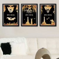 Lord of the Rings Film Series Poster Set / Print High Quality 170gr Coated Paper