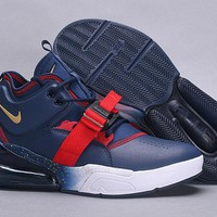 HCXX 19July 506 NIKE Air Force 270 AH6772-400 buckle strap rubber outsole Leather Fashion Sports Running Shoes