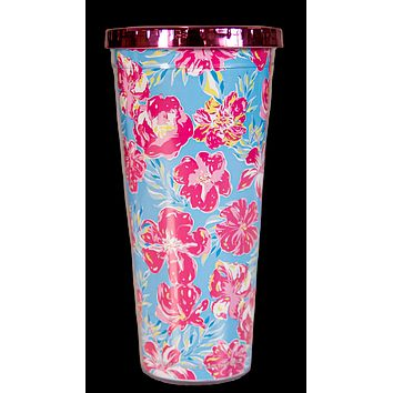 Simply Southern Preppy Tropic Tumbler 24 oz Cup With Straw