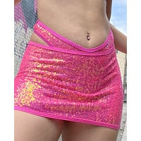 Sequin Fitted Mini Skirt