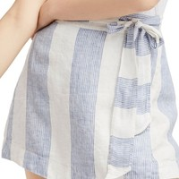 Free People Uptown Days Linen Wrap Miniskirt | Nordstrom