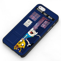 Adventure Time Jake Finn In Dr Who Tardis Call Box Galaxy Nebula For Samsung Galaxy S3 / S4 and IPhone 4 / 4S / 5 / 5S / 5C Case