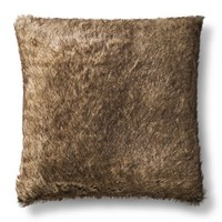 Threshold™ Oversized Brown Faux Fur Pillow