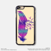 Purple Feather Bird Tattoo iPhone 6 6Plus case iPhone 5s case iPhone 5C case iPhone 4 4S case Samsung galaxy Note 2 Note 3 Note 4 S3 S4 S5 case 550