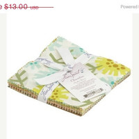 "Sale Fabric, Clementine by Heather Bailey, 5""X5"" Charm Pack, 30 pieces, FreeSpirit Fabrics"