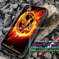 the hunger games logo iphone case, iphone 4/4S, iphone 5/5S, iphone 5c, samsung s3 i9300, samsung s4 i9500, design accesories