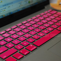 Pink gradientdecal macbook Decal for MacBook keyboard by Qskin