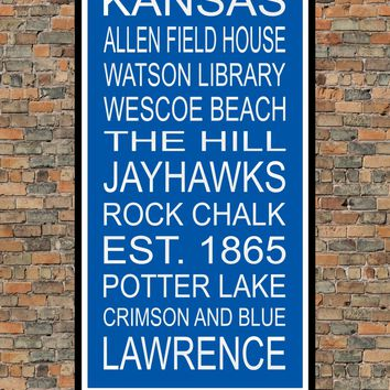 Kansas Jayhawks Subway Wall Art Print