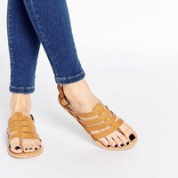 Park Lane Strappy Leather Flat Sandals
