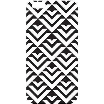 OTM iPhone 6 White Glossy Case Black-White Collection, Arrows