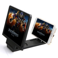 Folding Portable Magnifier Glass Screen HD Amplifier Stand Holder Foldable Mobile Phone Screen Magnifier Hot For 3D Movie Video