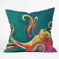 Clara Nilles Mardi Gras Octopus Throw Pillow