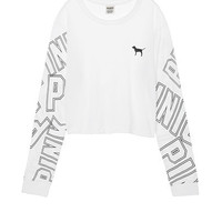 Campus Long Sleeve Shrunken Tee - PINK - Victoria's Secret