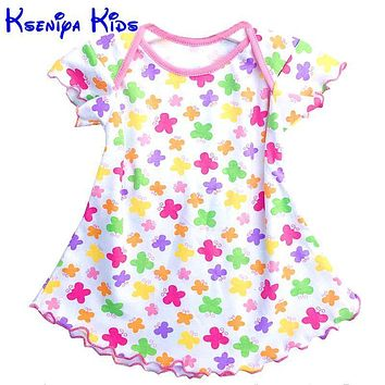 Super deal summer cotton baby dress princess dress envelope collar puff sleeve cute fashionable baby infant dress 0-18m ZL051107