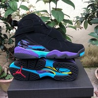 AIR JORDAN 8 Black&Purple&Green