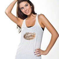 Florida Gators Women's White Oversized Tank