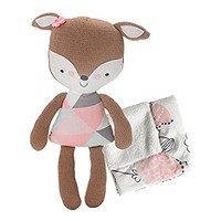Lolli Living Softie Plush & Blanket – Fiona Deer (Knit) – Stuffed Animal And Security Blanket Set, Cotton Shell, Soft And Comforting For Babies, Toddlers&Children
