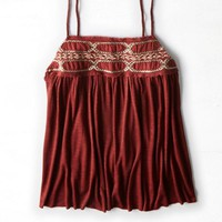 AEO Women's Embroidered Swing Cami