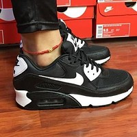 NIKE Air Max 90 Sneaker Sport Shoes Contrast Shoes Black white hook