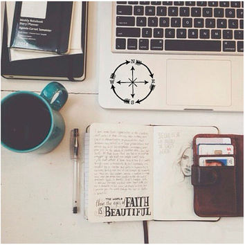Compass Decal - Adventure Stickers - Vinyl Decal - Laptop Decal - Macbook Decal - Girly Decal - Laptop Sticker - Car Decal - Vinyl Stickers