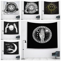 Sun Witchcraft Ouija Tapestry Wall Fabric Wall Hanging Tapestry Wall Blanket Farmhouse Home Decor  Boho Decor Window Tapestry