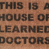 House of Learned Doctors doormat by damngooddoormats on Etsy