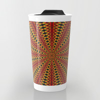 Red and yellow rays Travel Mug by Pirmin Nohr
