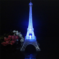 Newest Romantic Eiffel Tower LED Night Light Desk Baby Table Lamp Wedding Bedroom Decorate Child Gift Christmas Lights Lamp