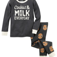 2-Piece Cookies & Milk Snug Fit Cotton PJs