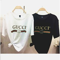 "Gucci""Hot letters print T-shirt top F"