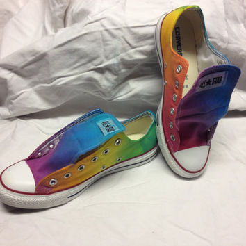 Rainbow Blended Converse (or Toms)